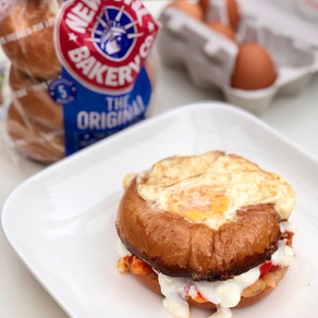 EGG IN A HOLE! 'This how-to changes the face of bagel-making as we know it'