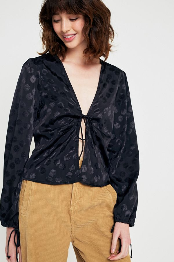 Pins & Needles Tie-Front Blouse