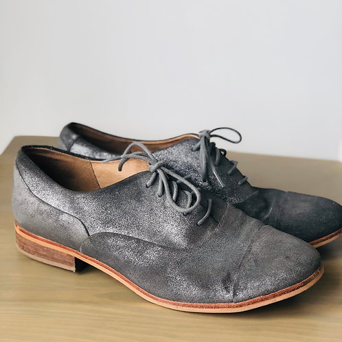 Clarks silver brogues