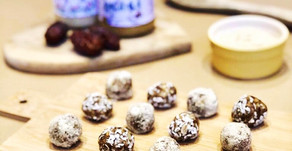 Raw honey, almond and date protein balls