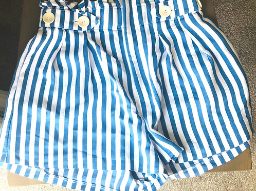 Zara striped shorts