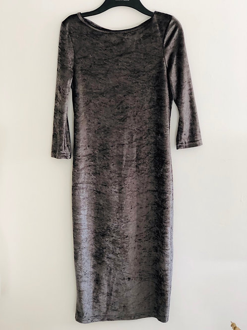 Velvet v back dress