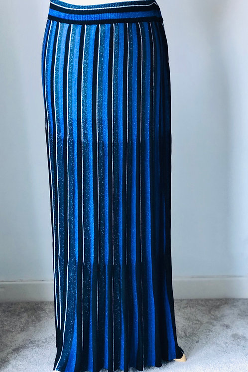 Zara blue pleated skirt