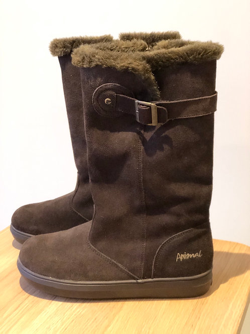 Animal faux fur lined boots