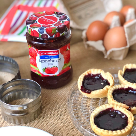HAPPINESS IS...jam tarts and bottomless tea?