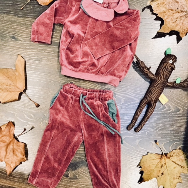 Velour jumper and joggers