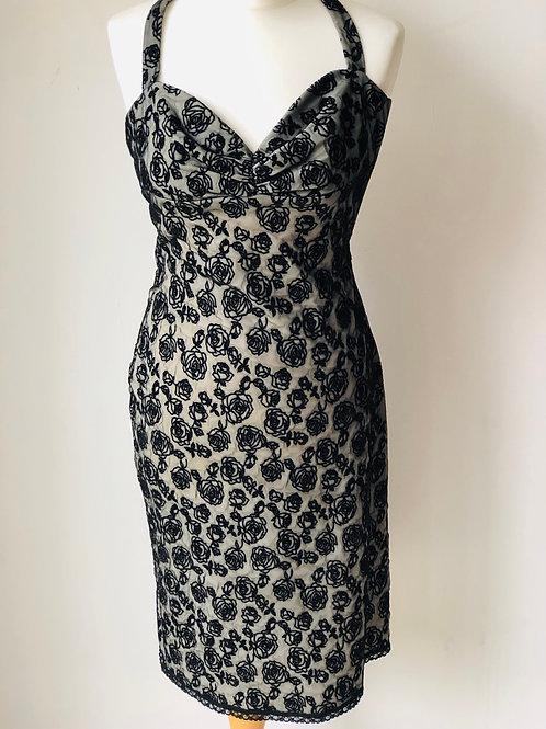 Betsey Johnson black floral dress