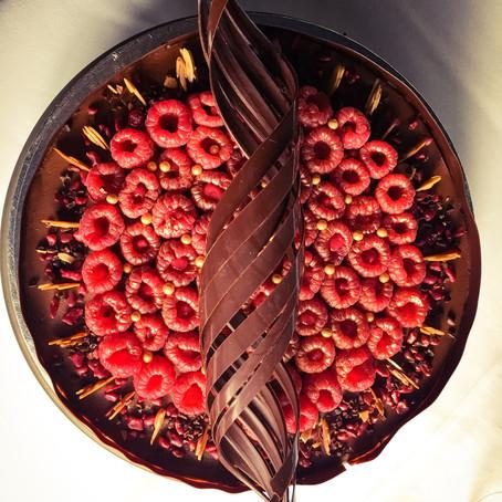 Guilt-free dark chocolate cake