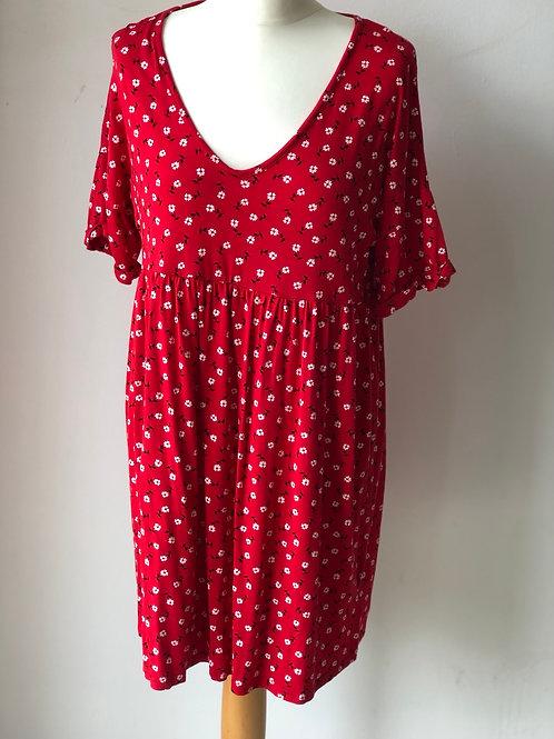 Wednesday's Girl red ditsy dress