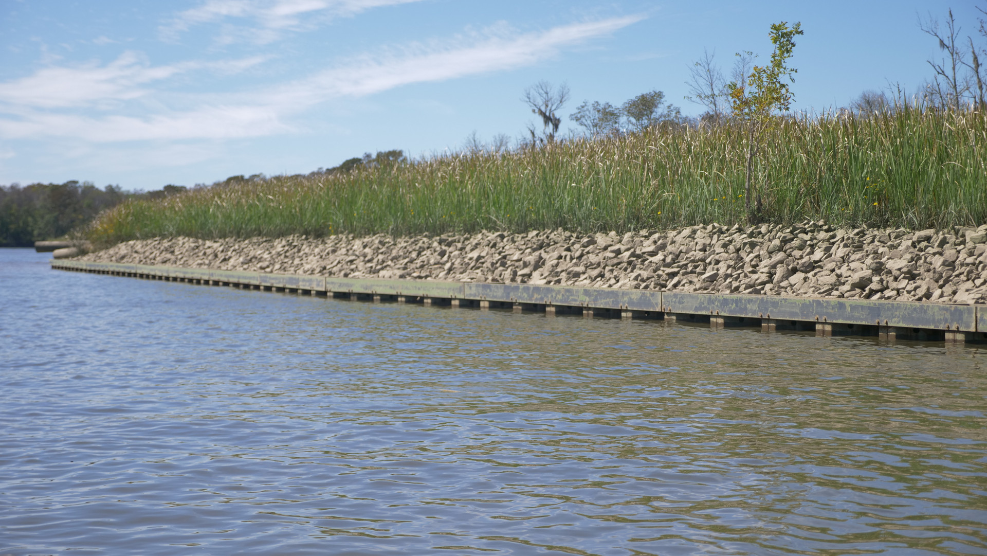 McCoys Cut - Sheet Pile Wall with Steel
