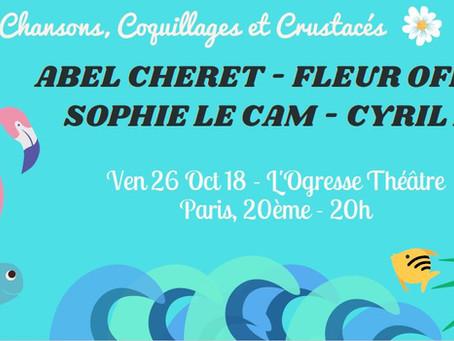Chansons, Coquillages et Crustacés à l'Ogresse Théâtre
