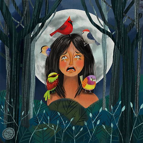 "Illustration for the tale ""The Princess of Bambuluá""."