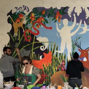 """Processo mural """"Água"""" (2018)"""