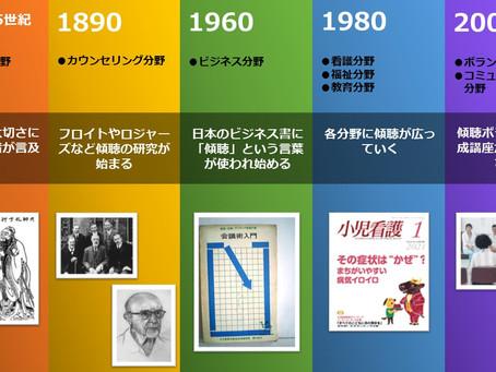 傾聴の歴史ーその0(図解年表)