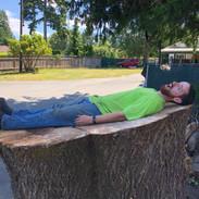 The diameter was the length of my son Matt!