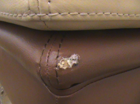 how to repair worn leather couch