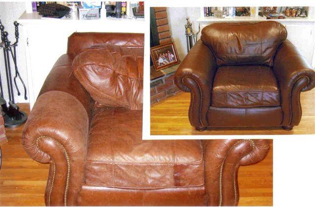 Custom Leather Dye Chair St Louis Repair Video