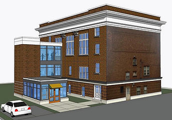 design drawing of new Thompson Hall Elevator