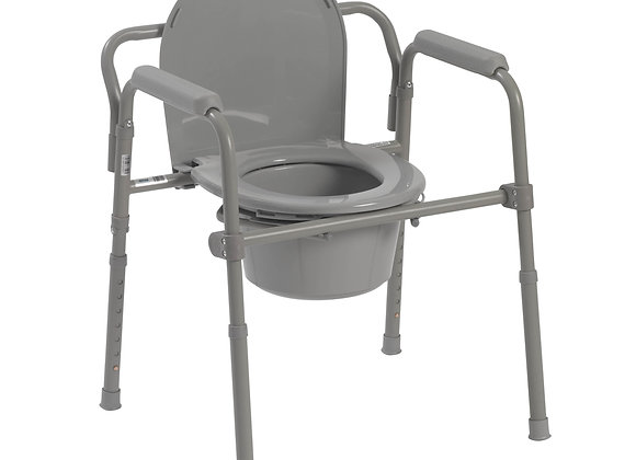 Deluxe All-In-One Commode With Armrests