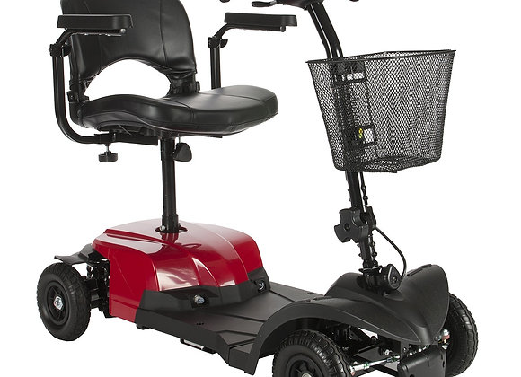 "Bobcat X Transportable Scooter, 16.5"" Folding Seat, Red"