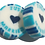 Thumbnail: 50 x Turquoise & Pearl JUST MARRIED sweet with a peach heart