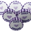 Lilac and Purple Just Married Wedding Favour Rock Sweets