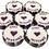 Thumbnail: 50 x Purple,Silver & Black JUST HITCHED Wedding Favour Blackcurrant Cheesecake