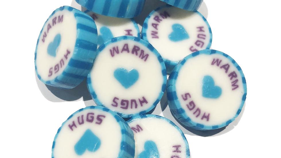 50 x Warm Hugs Rock Sweet - Frozen Berry Flavour