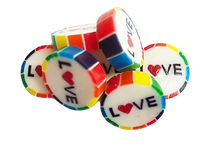 Rainbow Gay Pride LOVE wedding favour sweet