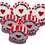 Red and White Two Hearts One Love wedding favour rock sweets