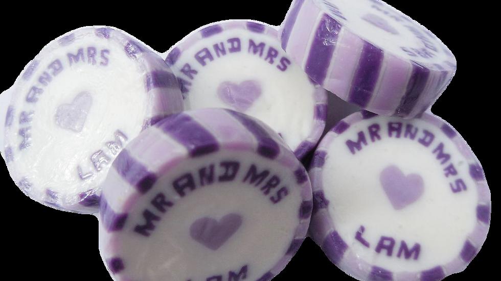 Personalised Wedding Rock Sweets