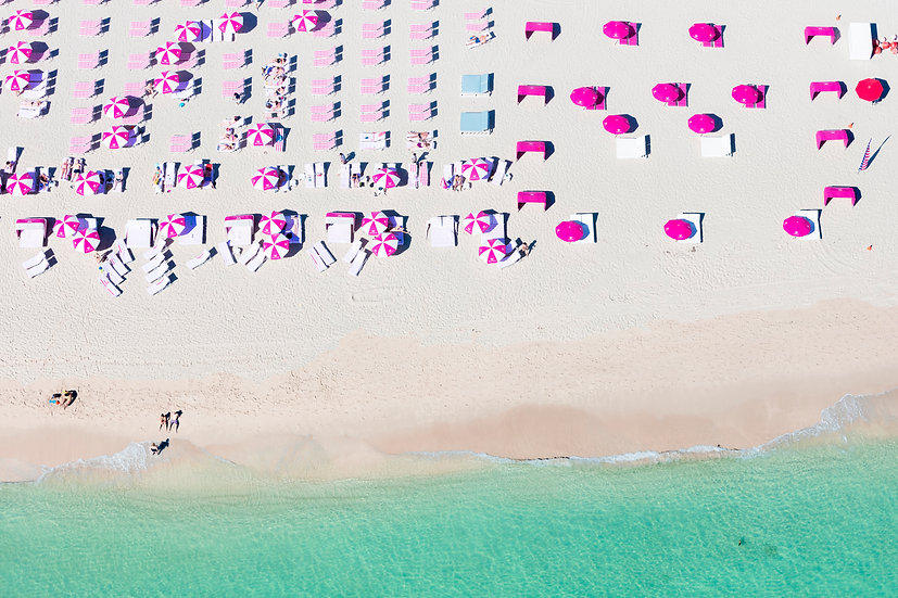 South Beach - Pink and White I