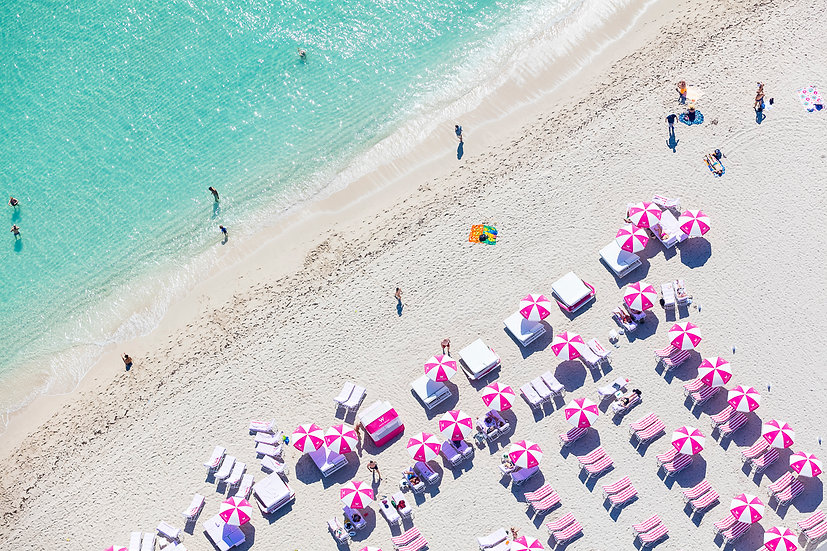 South Beach - Pink and White II