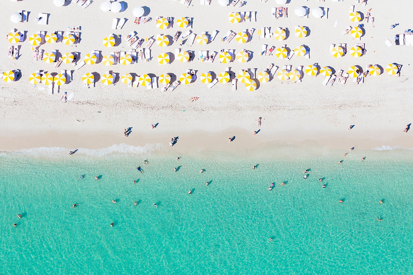 Miami Beach - Yellow and White III