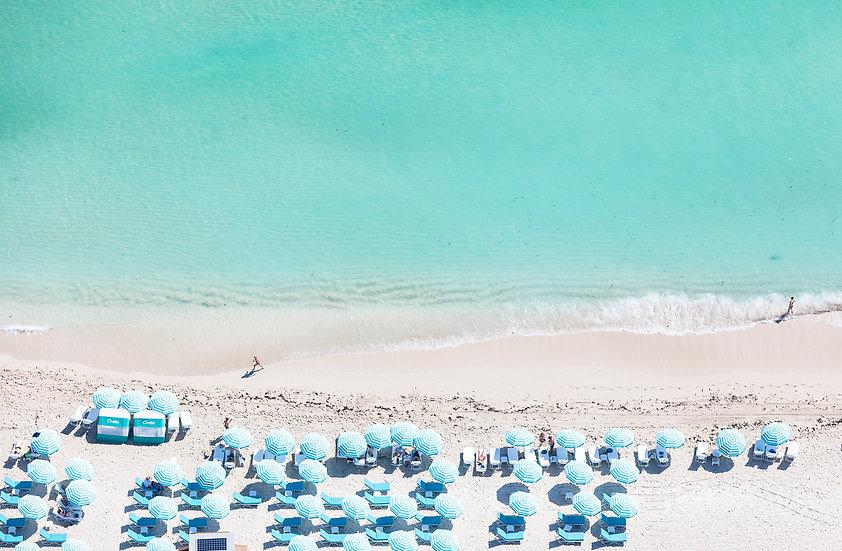 Miami Beach - Blue Stripes I