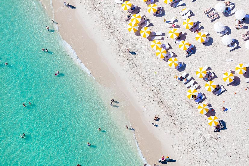 Miami Beach - Yellow and White II