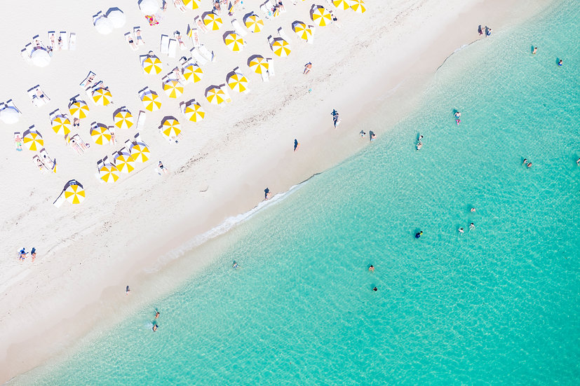 Miami Beach - Yellow and White I