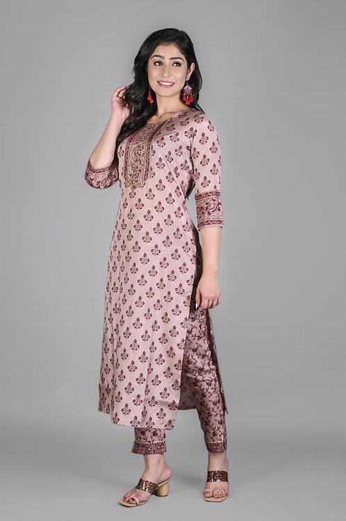 Chacha's 21299 printed art silk kurta set