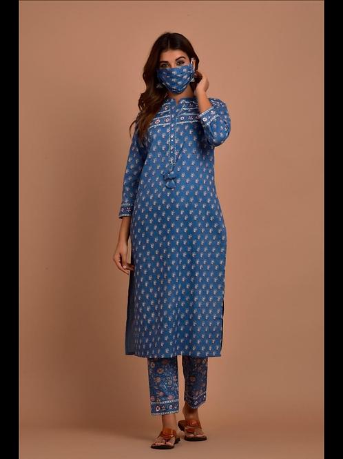 Chacha's 101883 printed cotton kurta set