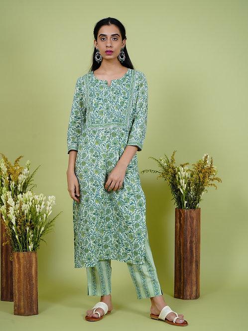 Chacha's 101904 printed cotton kurta set