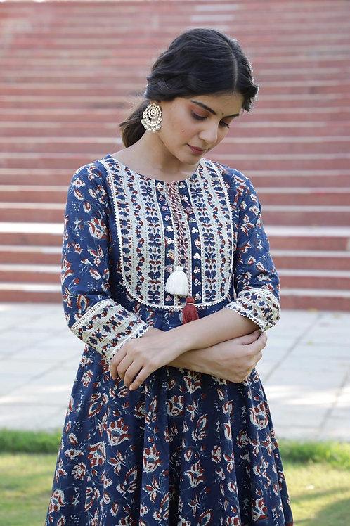 Chacha's 21236 printed cotton kurta set with dupatta