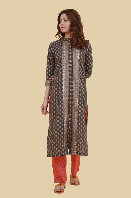 Chacha's 21330 foil printed cotton kurta set