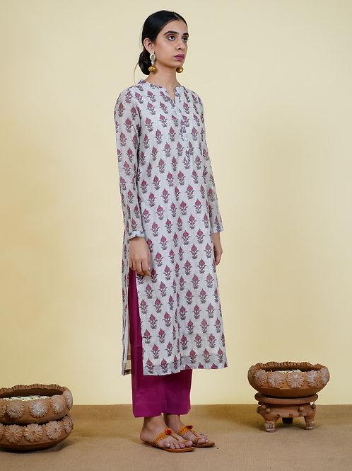 Chacha's 101926 printed chanderi kurta