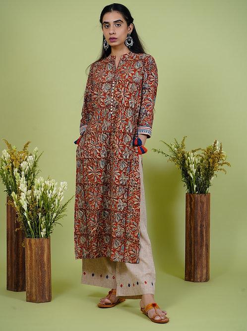 Chacha's 101909 printed cotton silk kurta set