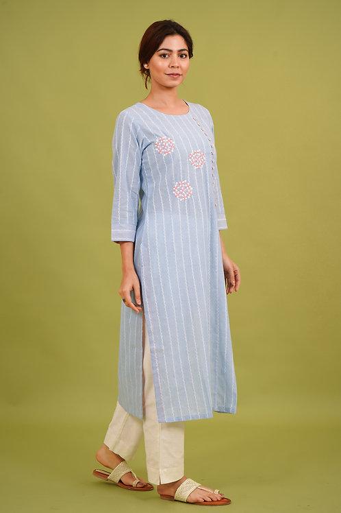 Chacha's 21343 cotton linen kurta set
