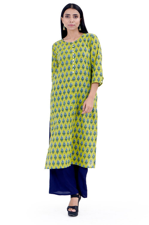 Chacha's120020 printed cotton kurta