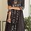 Thumbnail: Chacha's 21296 printed muslin silk Anarkali kurta