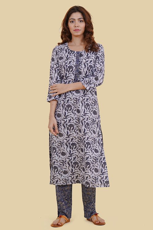 Chacha's 21331 printed cotton kurta set