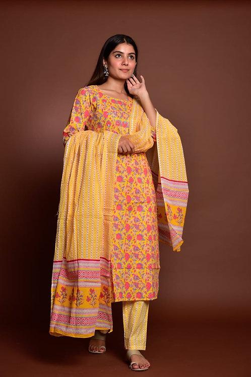 Chacha's 101735 kurta set with dupatta