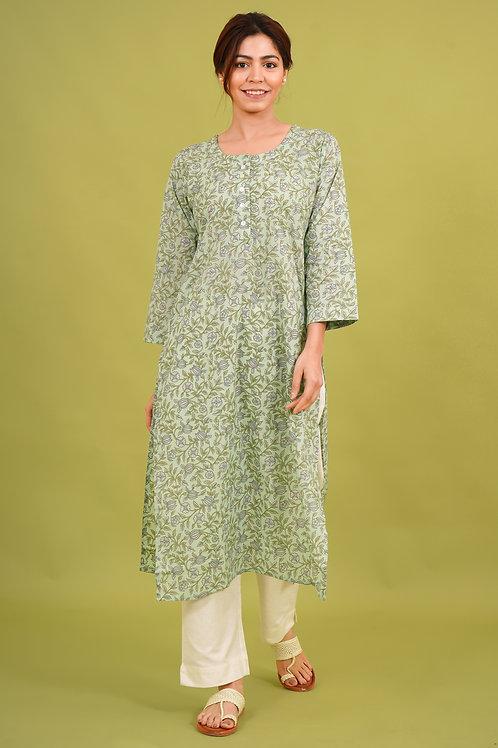 Chacha's 21336 printed cotton kurta